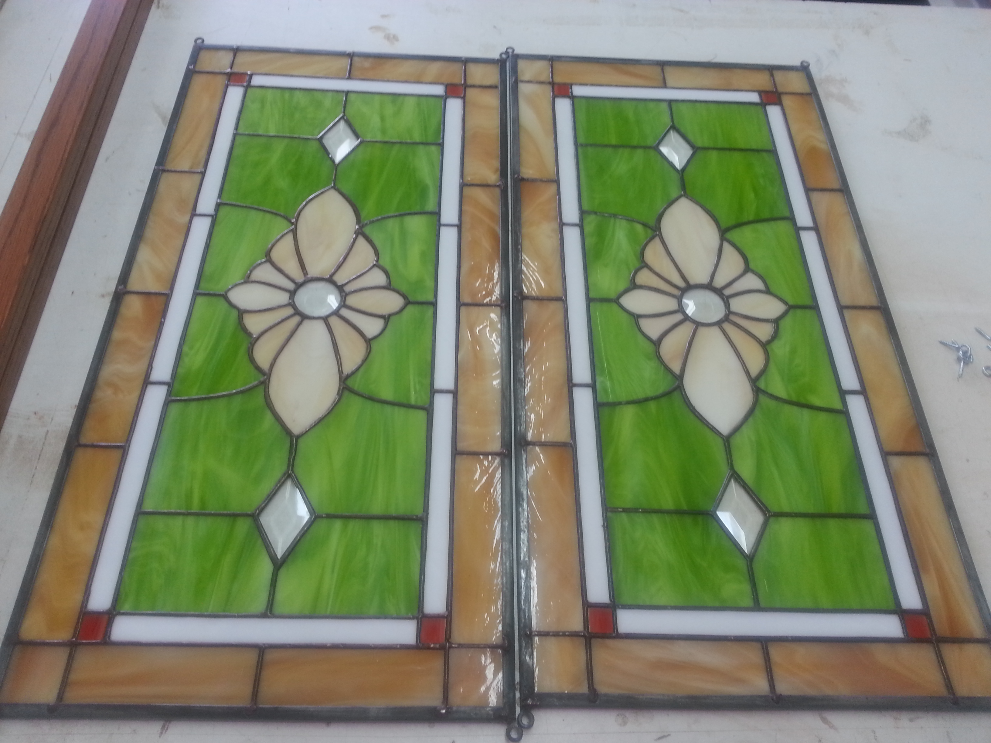 Stained glass panels for entry 3 boy home services for 15 panel beveled glass door