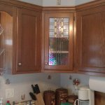 stained glass cabinet panel